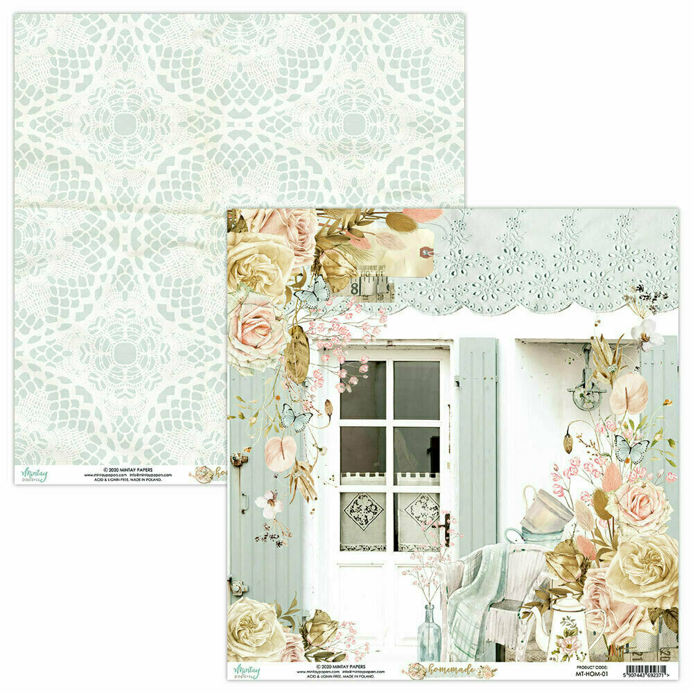 Mintay Papers Homemade 12 x 12 sheet #1