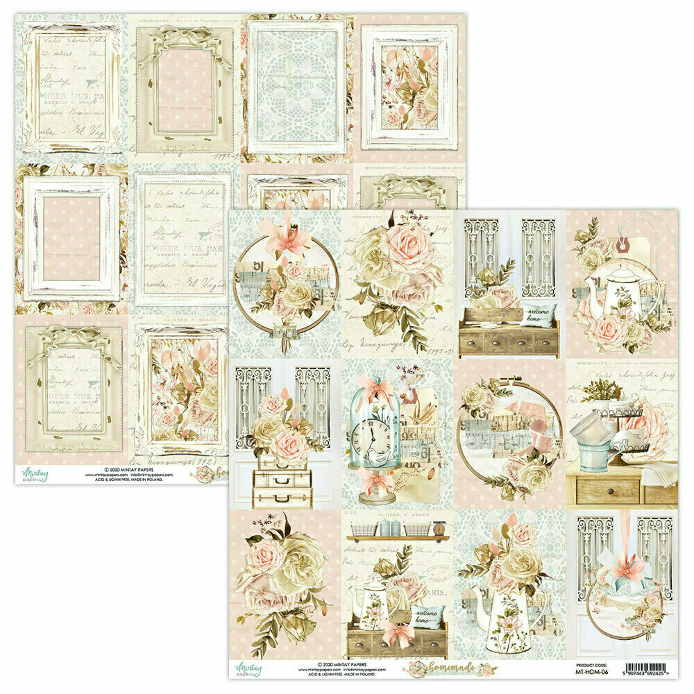 Mintay Papers Homemade 12 x 12 sheet #6