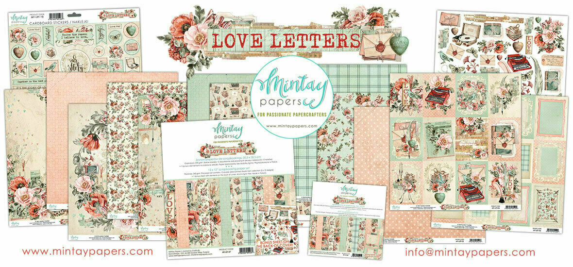 MIntay Papers Love Letters 12 x 12 collection pack