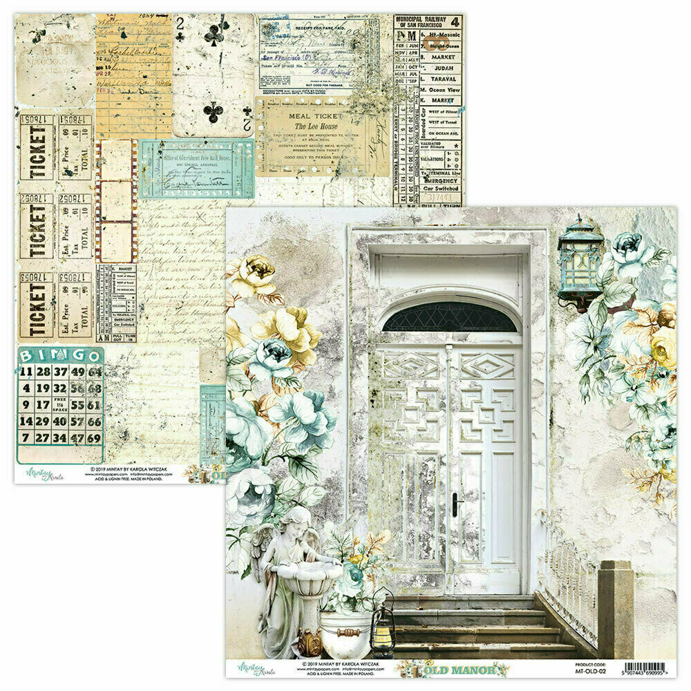 Mintay Papers OLD MANOR sheet #2 12 x 12