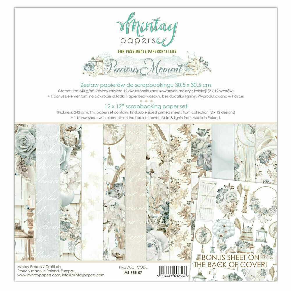 Mintay Papers PRECIOUS MOMENT 12 x 12 inch Collection set