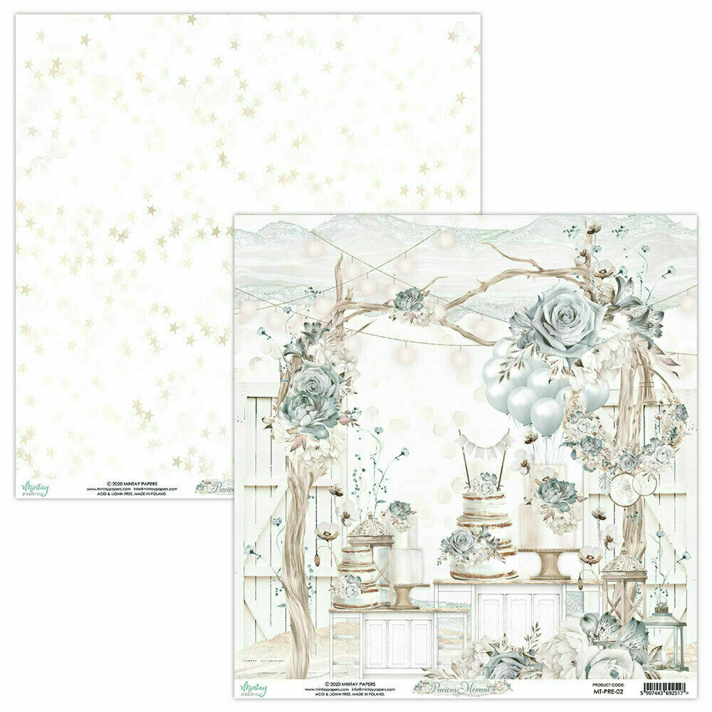 Mintay Papers PRECIOUS MOMENT 12 x 12 sheet #2