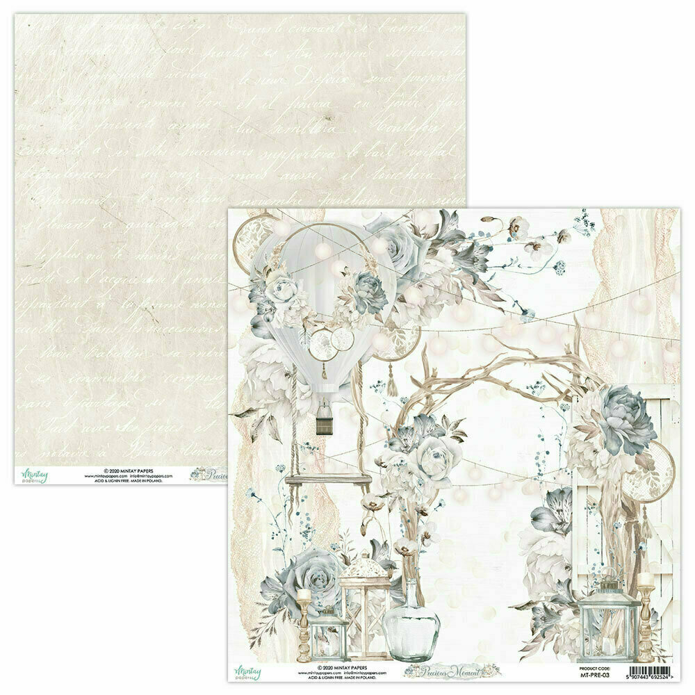 Mintay Papers PRECIOUS MOMENT 12 x 12 sheet #3