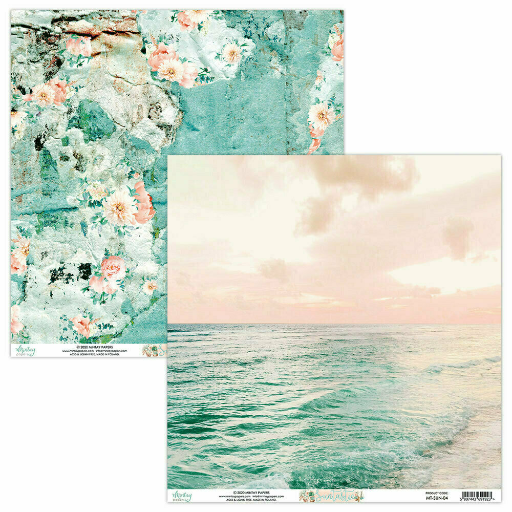 Mintay papers SUNTASTIC Sheet #4 12 X 12