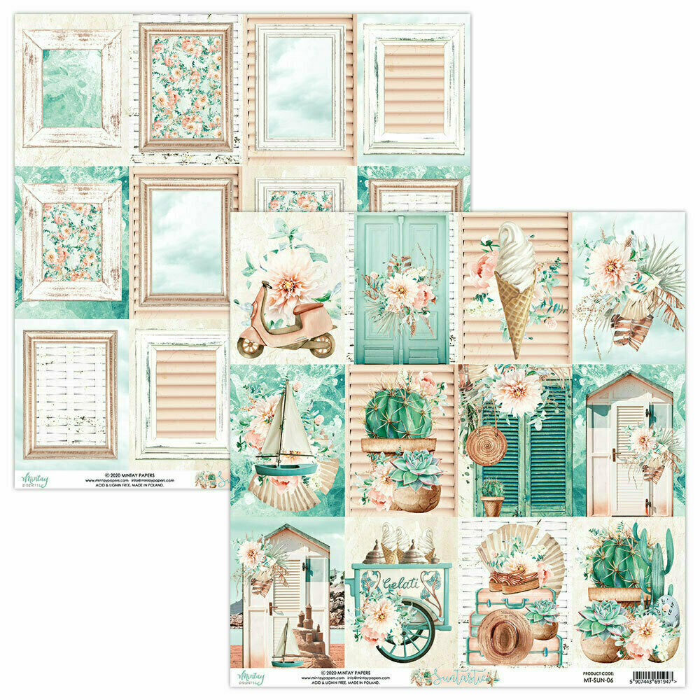 """Mintay papers SUNTASTIC Sheet #6 12"""" x 12"""""""
