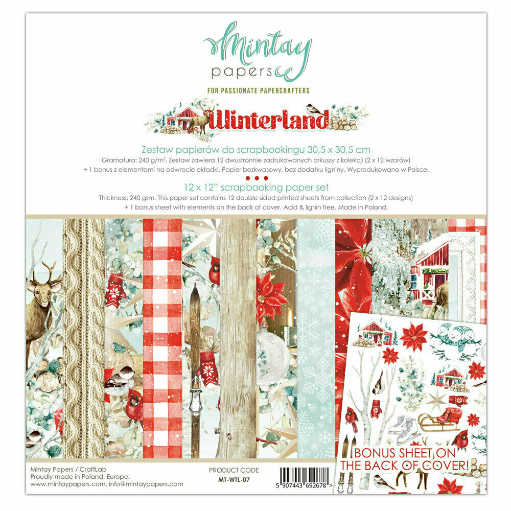 Mintay Papers WINTERLAND 12 X 12 PAPER SET