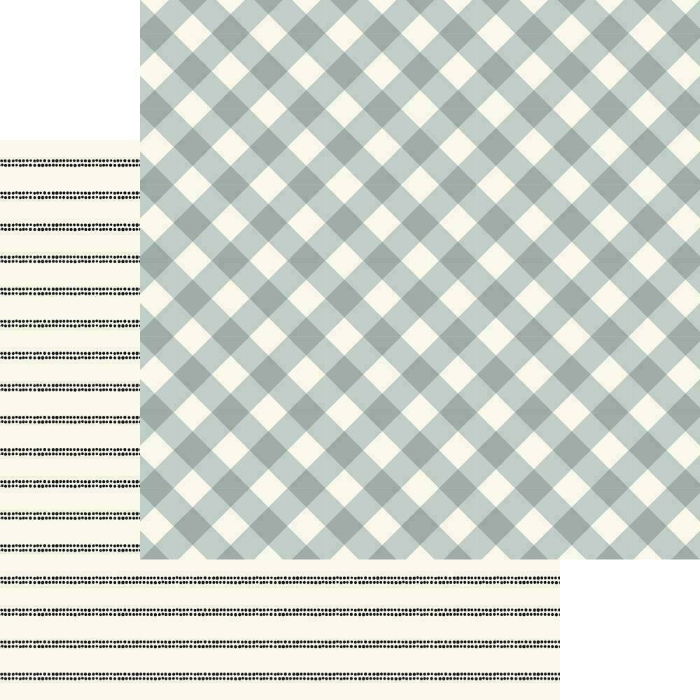 """My Mind's Eye Gingham Gardens Double-Sided Cardstock 12""""X12""""  Charlotte"""