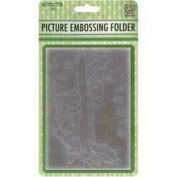 """Nellie's Choice Picture Embossing Folder 4""""X6"""" Summer Flowers"""