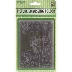 """Nellie's Choice Picture Embossing Folder 4""""X6"""" Summer Holidays"""