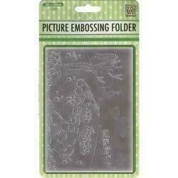 """Nellie's Choice Picture Embossing Folder 4""""X6"""" Tulips"""