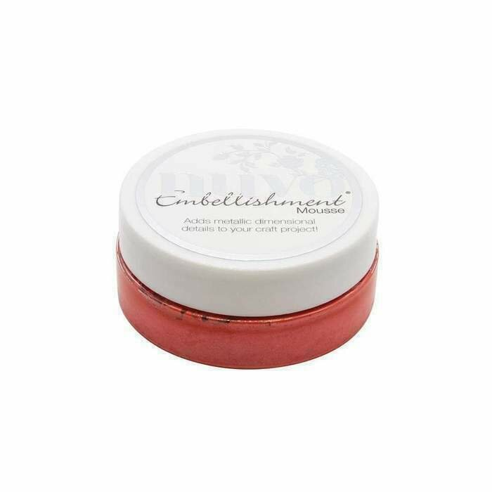 Nuvo - Embellishment Mousse - Fusion Red - 836n