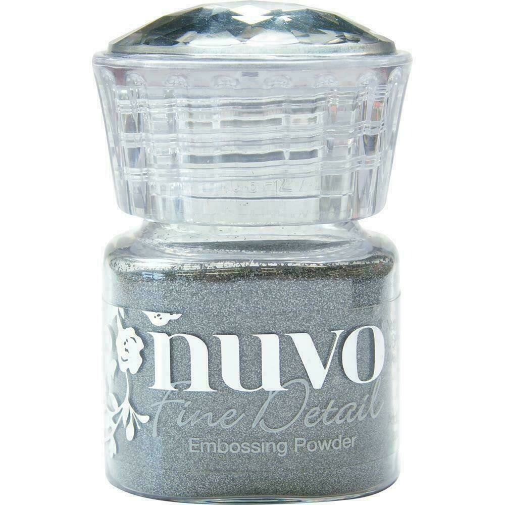 Nuvo Embossing Powder Fine Detail .68oz  - Classic Silver