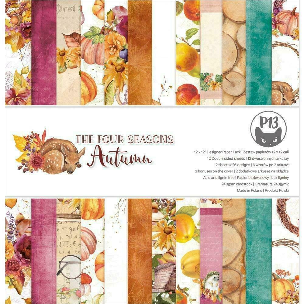 """P13 Paper Pad 12""""X12"""" 12/Pkg The Four Seasons-Autumn"""
