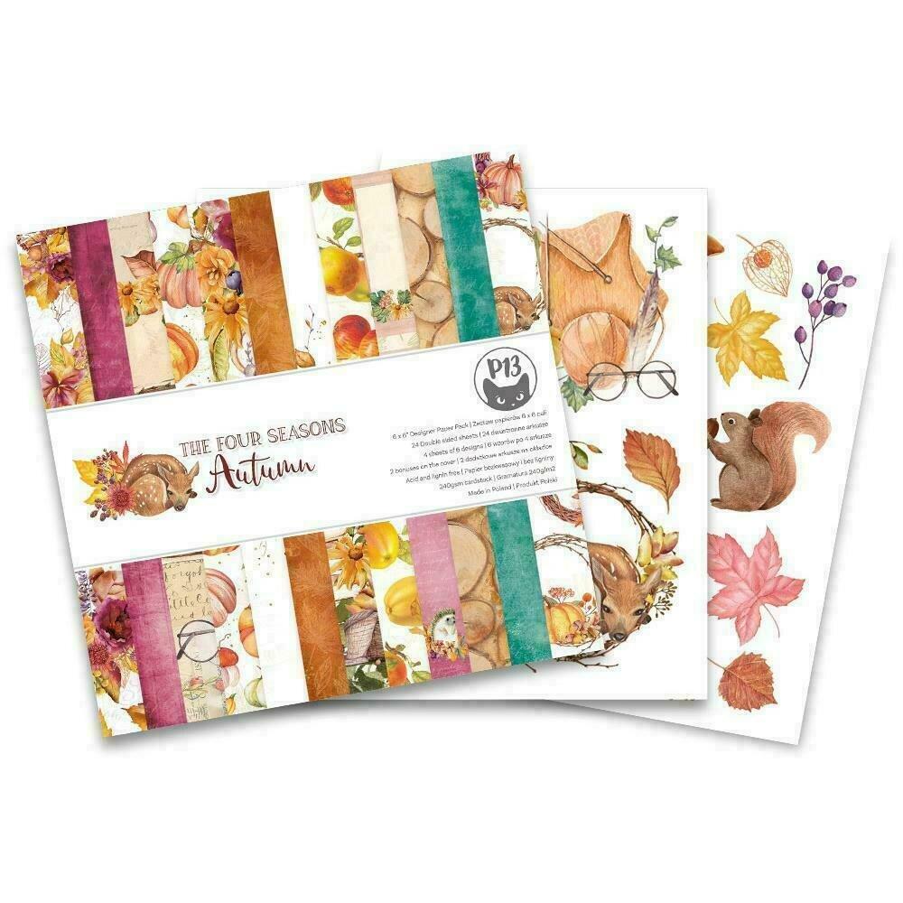 "P13 Double-Sided Paper Pad 6""X6"" 24/Pkg The Four Seasons-Autumn"