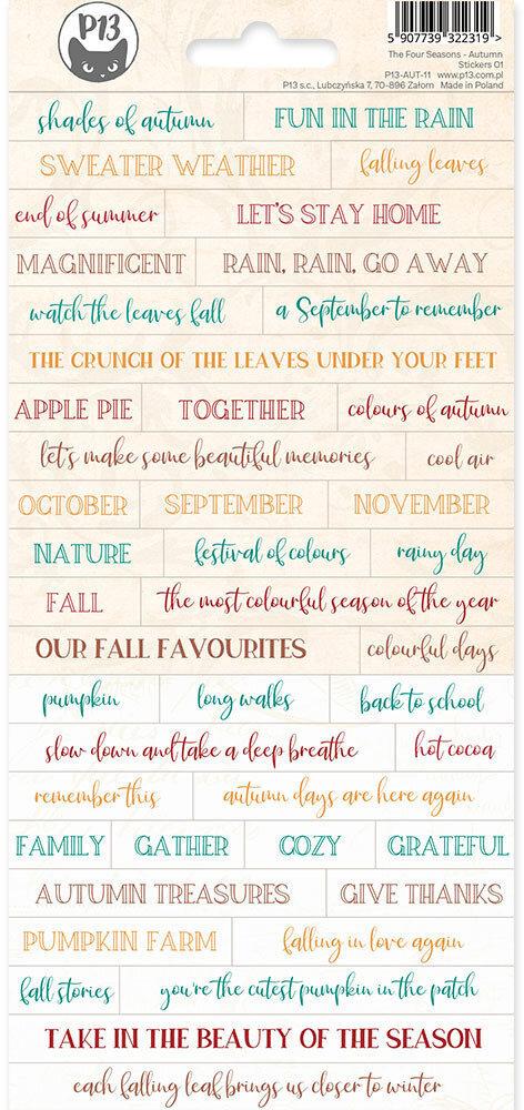 P13 Sticker Sheet The Four Seasons - Autumn 01