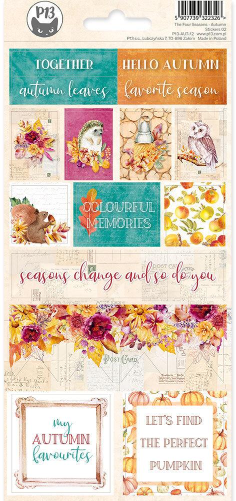 P13 Sticker Sheet The Four Seasons - Autumn 02