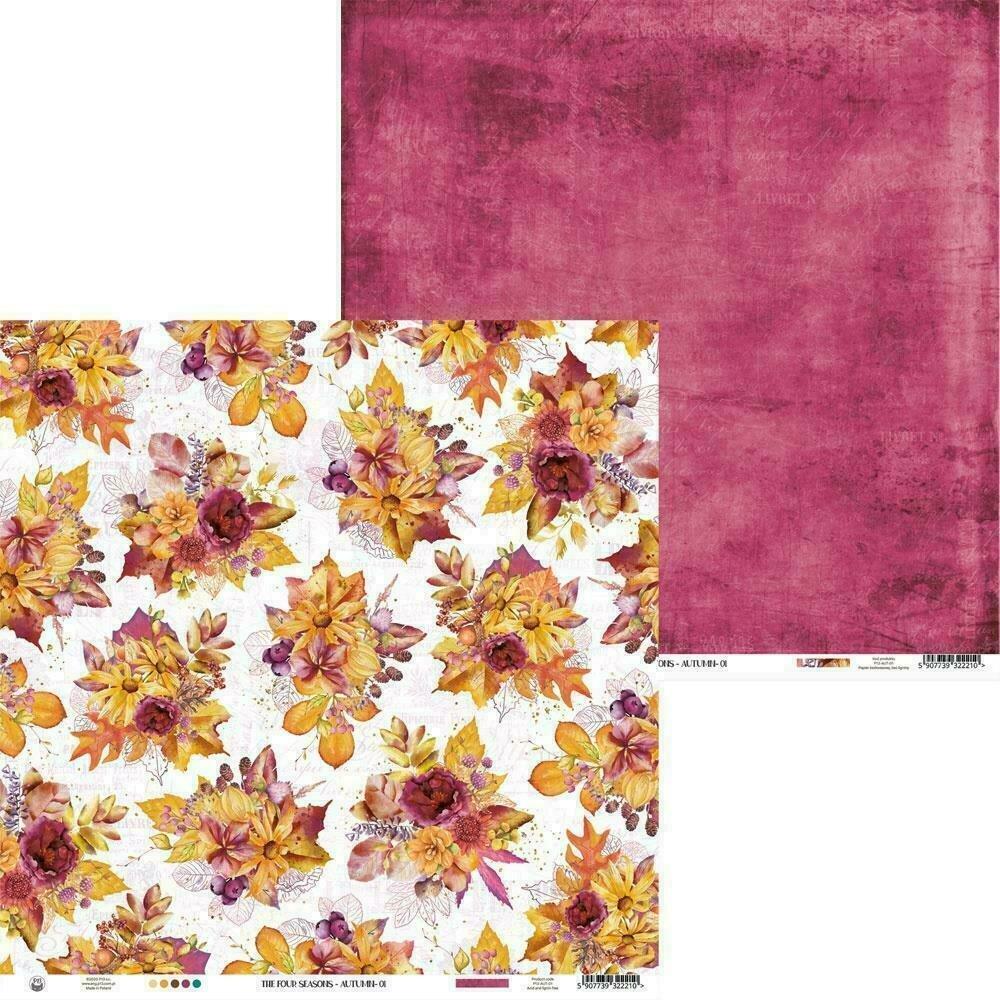 """P13 The Four Seasons-Autumn #1 12""""X12"""" Sheet"""