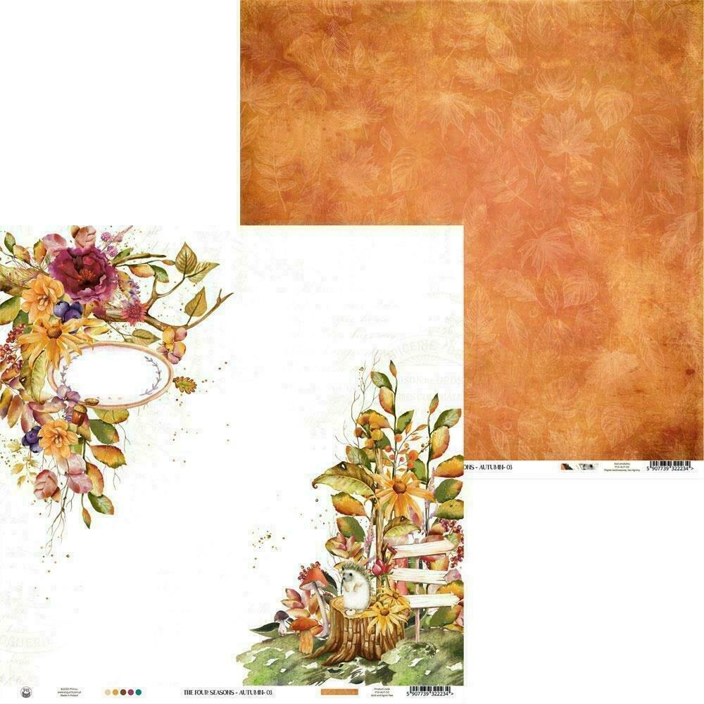 """P13 The Four Seasons-Autumn #3 12""""X12"""" Sheet"""