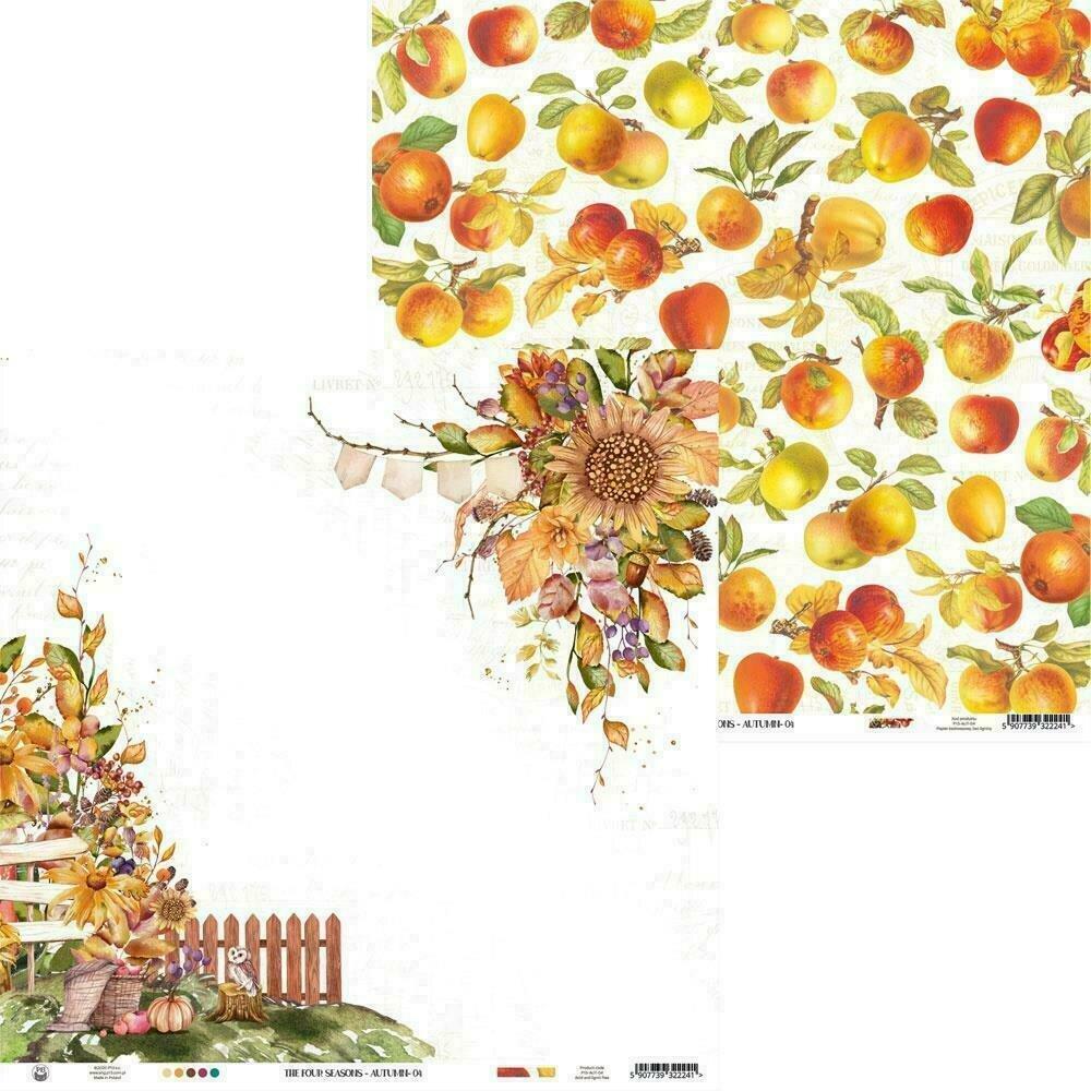 """P13 The Four Seasons-Autumn #4 12""""X12"""" Sheet"""