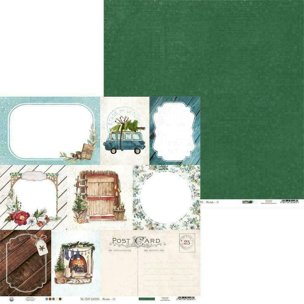 "P13 The Four Seasons-Winter #5 12""X12"" Sheet"