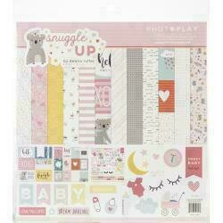 """PhotoPlay Collection Pack 12""""X12"""" Snuggle Up Girl"""