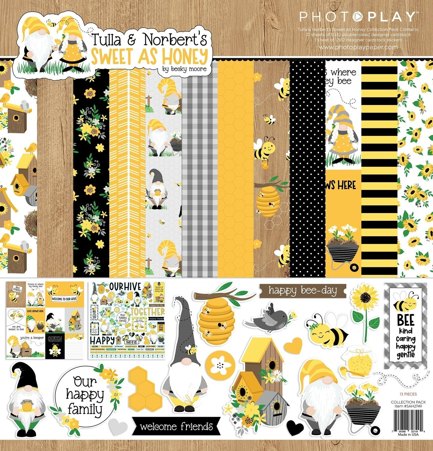 """PhotoPlay Collection Pack 12""""X12""""-Sweet As Honey"""