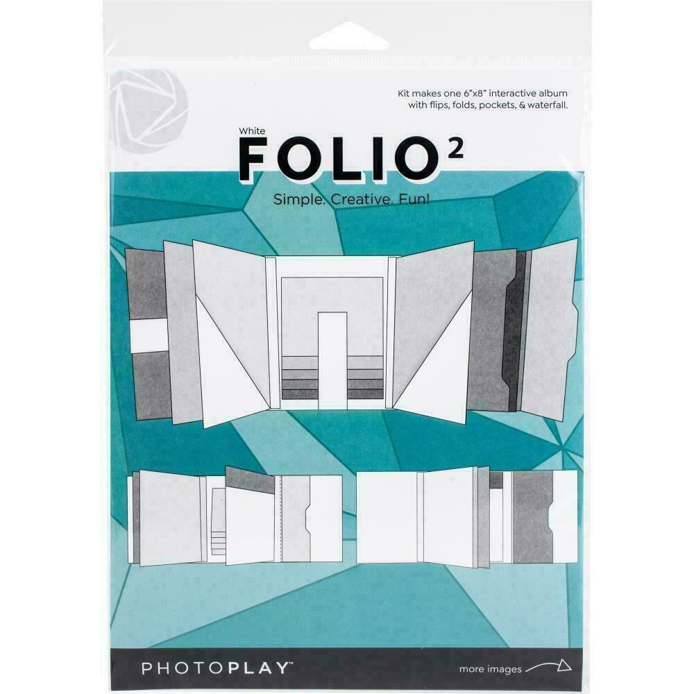 """Photoplay Folio 2 6""""X8"""" White"""