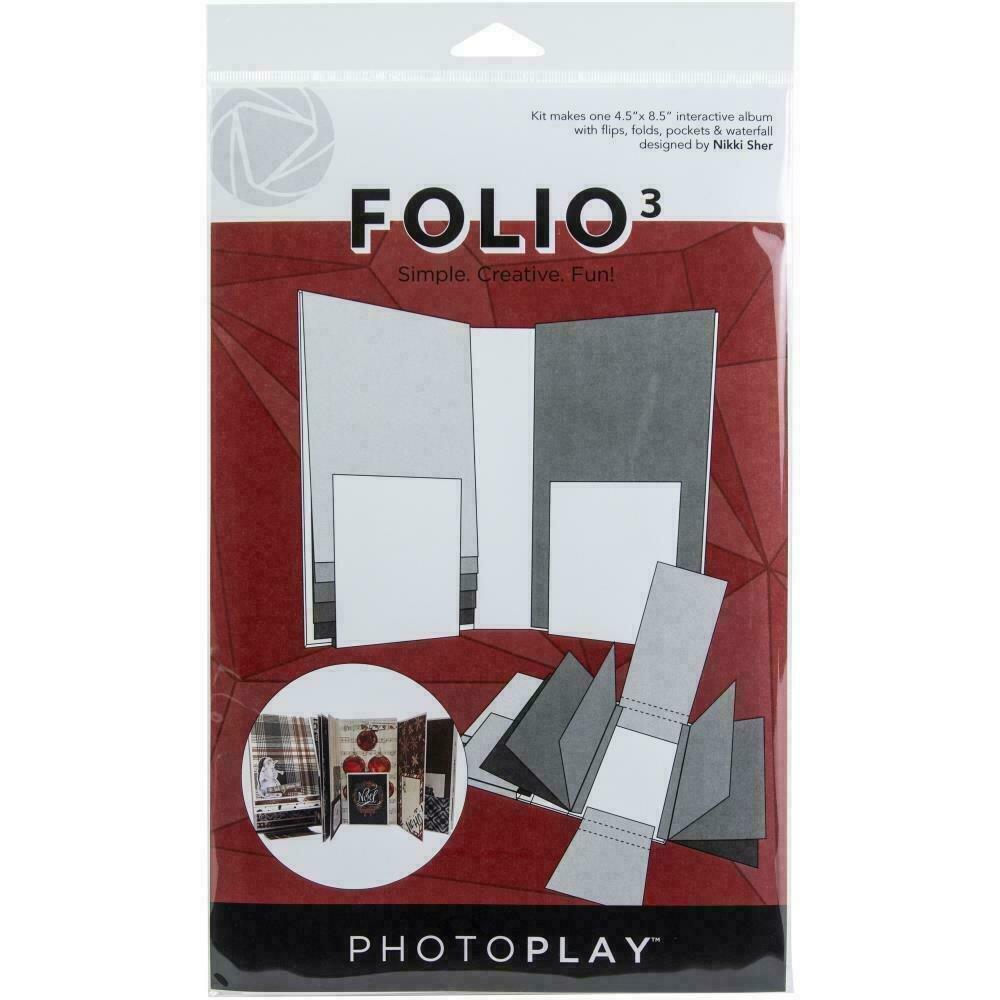"""PhotoPlay Folio 3 - 4.5""""X8.5""""White"""
