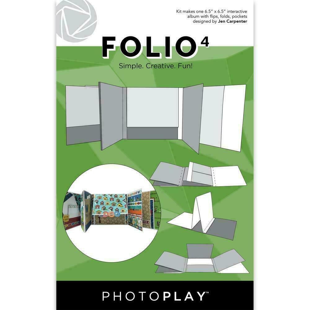 """PhotoPlay Folio 4 6.5""""X6.5""""White"""