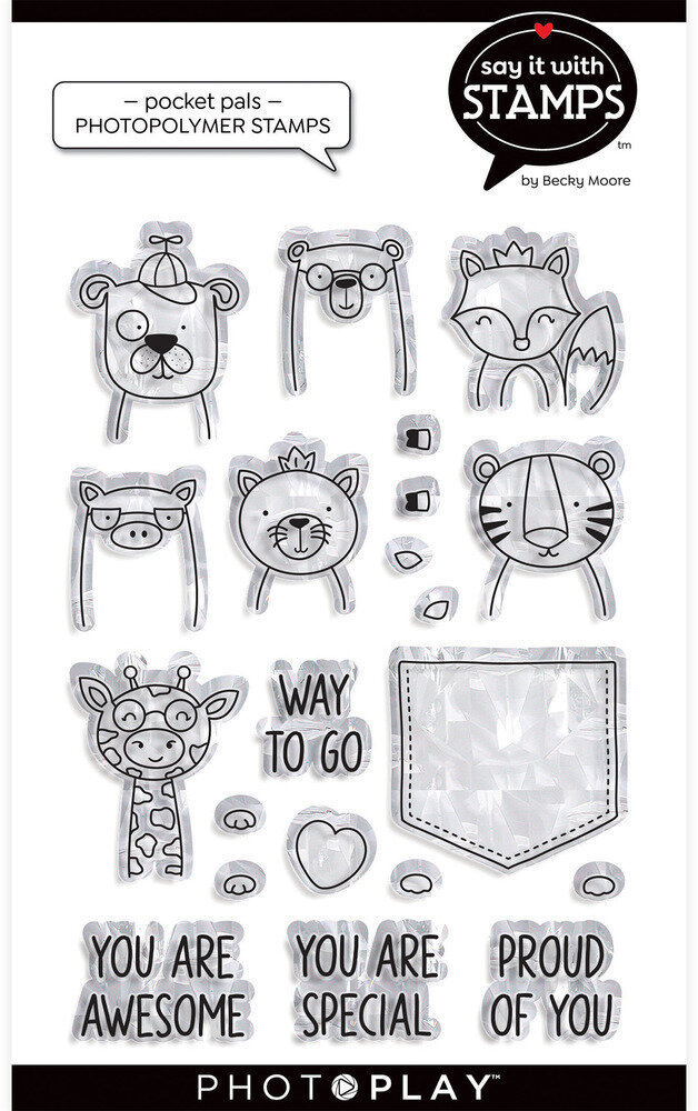 PhotoPlay Clear Stamp Say It With Stamps - Pocket Pals