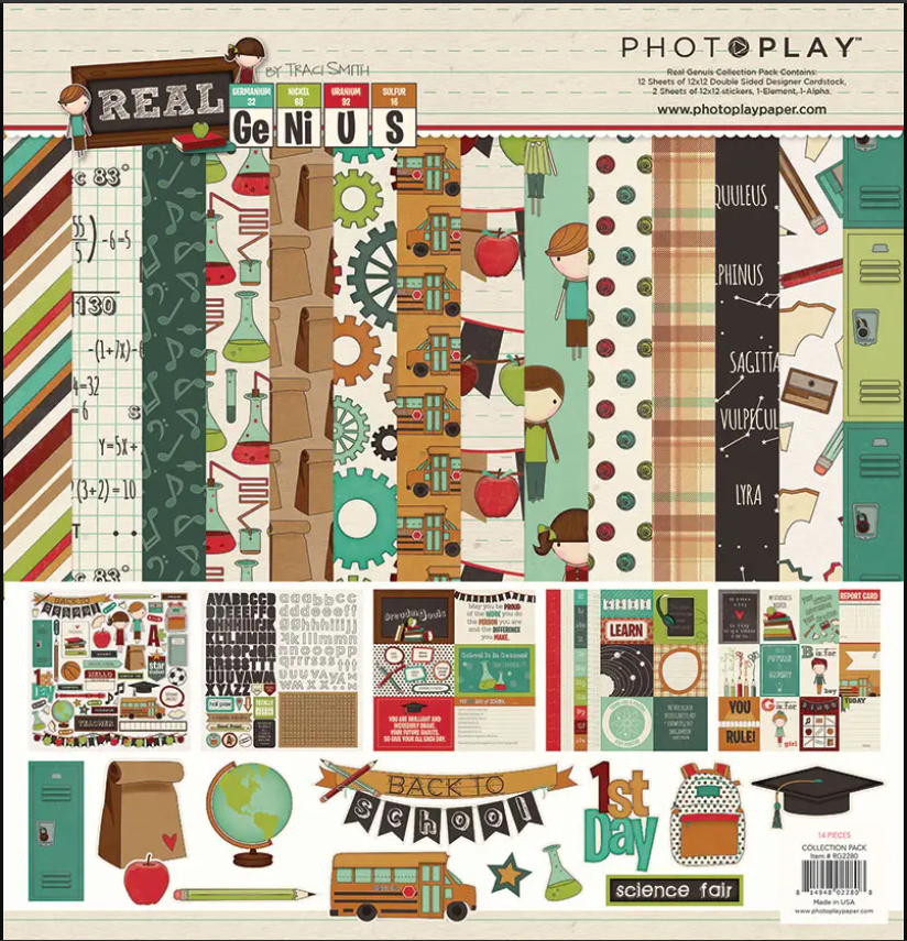 PhotoPlay Real Genius 12 x 12 collection pack