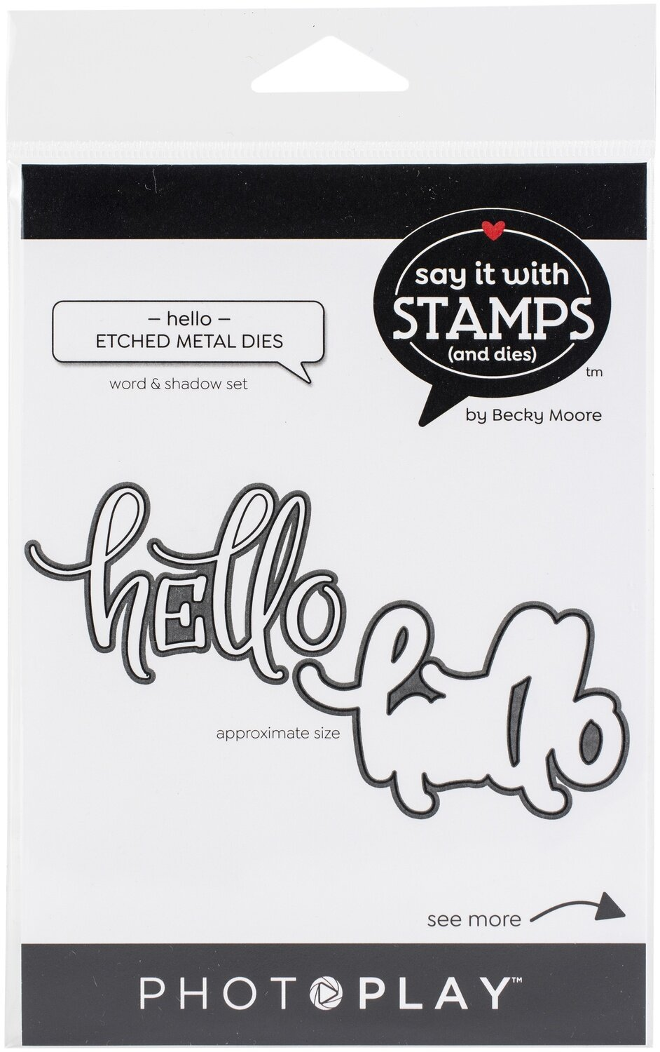 PhotoPlay Say It With Stamps Die Set-Hello
