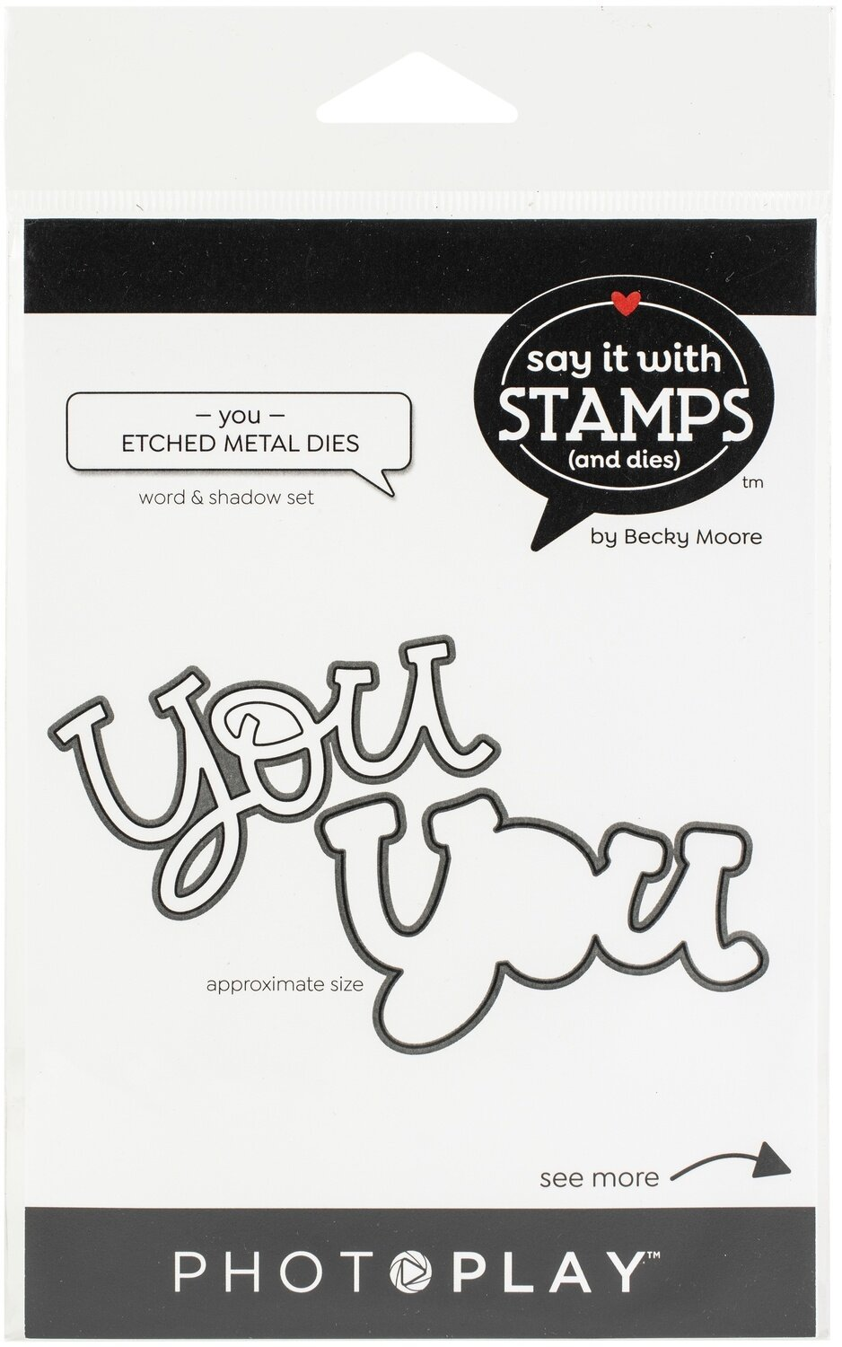 PhotoPlay Say It With Stamps Die Set-You