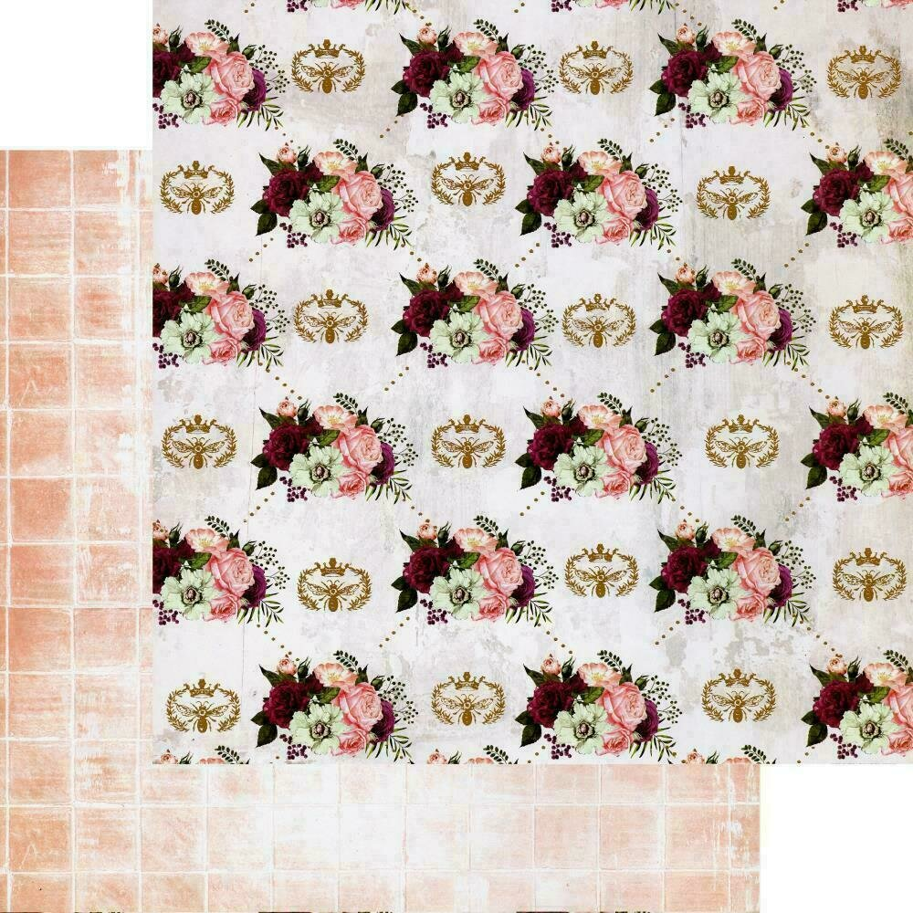 """PRETTY MOSAIC COLLECTION 12""""X12"""" SHEET - QUEEN BEE - FOIL DETAILS"""