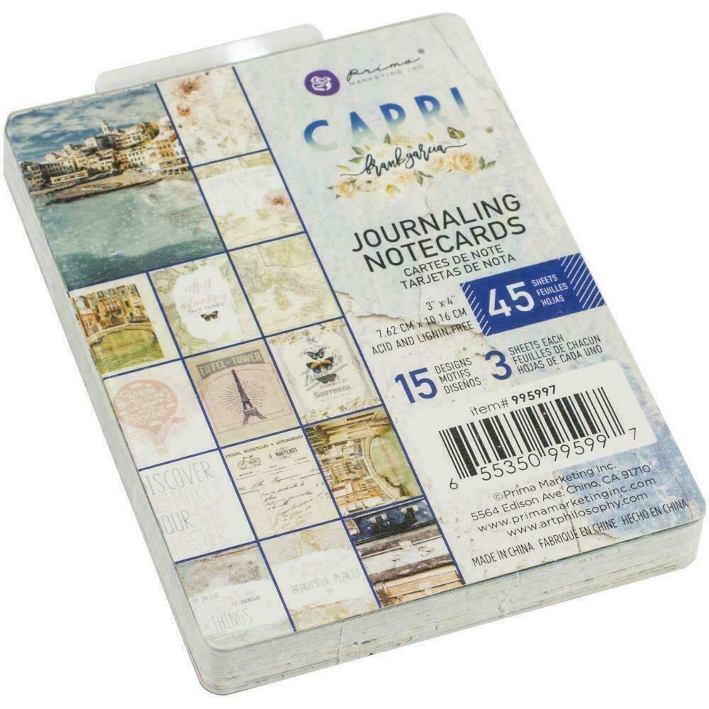 "Prima Marketing Capri Journaling Cards 3""X4"" 45/Pkg"