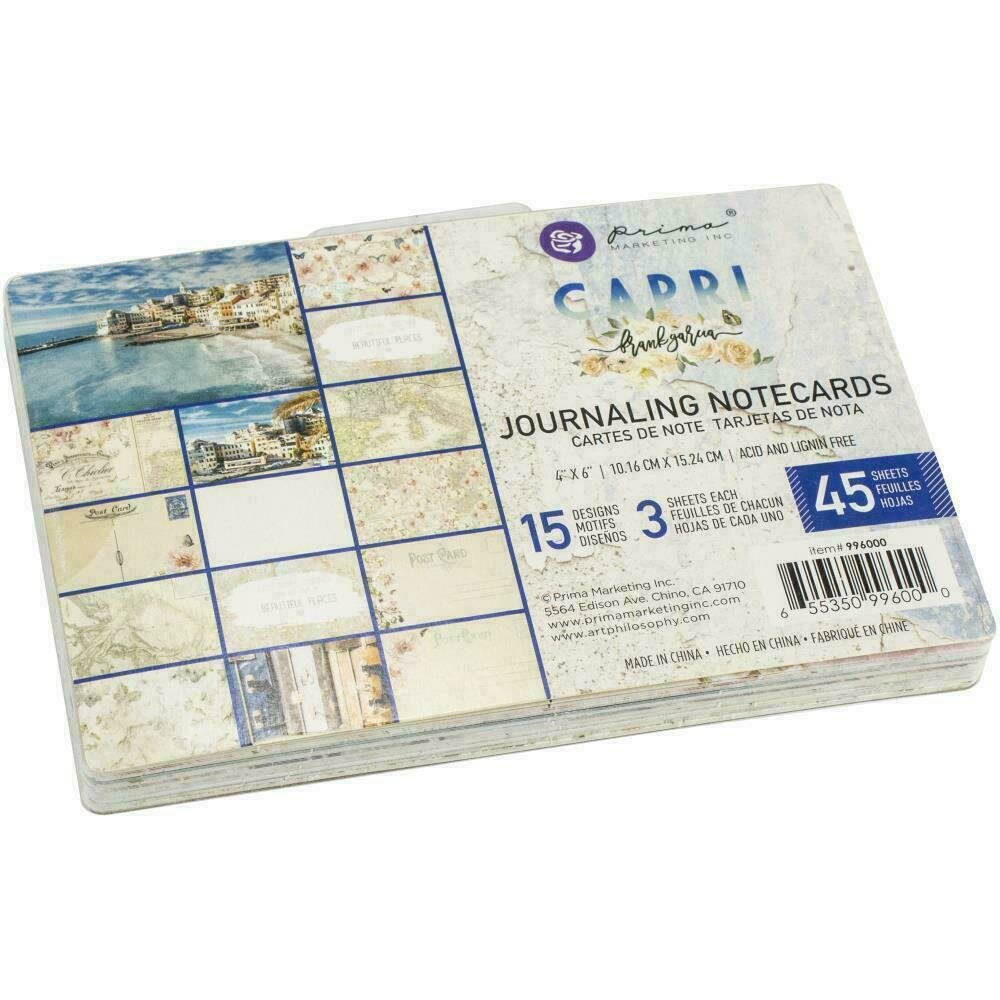 "Prima Marketing Capri Journaling Cards 4""X6"" 45/Pkg"