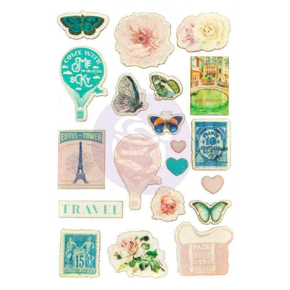 Prima Marketing Capri Wood Stickers 19/Pkg