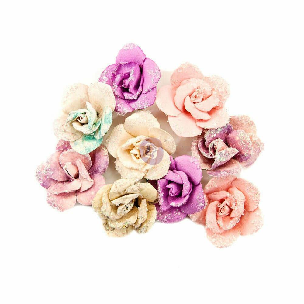 Prima Marketing Fabric Flowers Crescent moon/Moon Child 9/Pkg