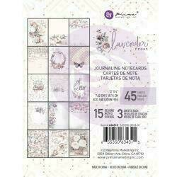 "Prima Marketing Lavender Frost Journaling Cards 3""X4"" 45/Pkg 15 Designs/3 Each"
