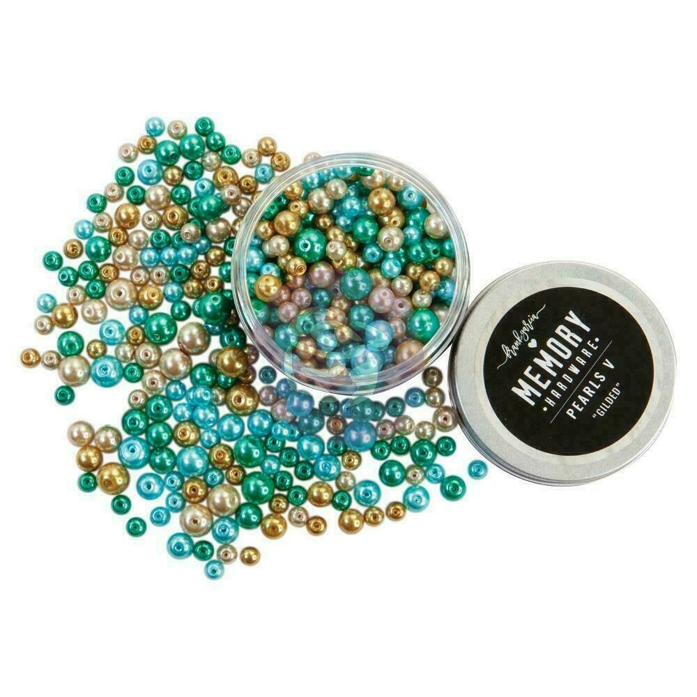 Prima Marketing Memory Hardware Glass Pearls - 5