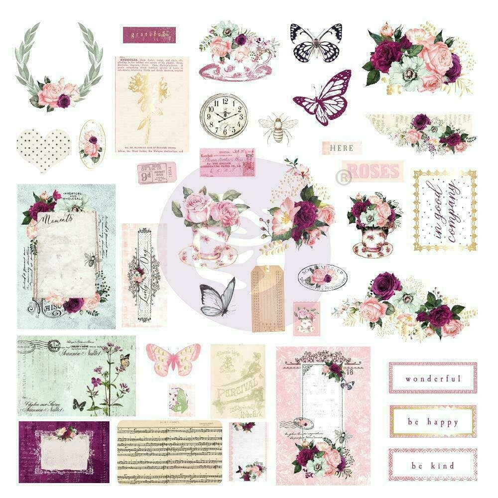 Prima Marketing Pretty Mosaic Cardstock Ephemera 38/Pkg
