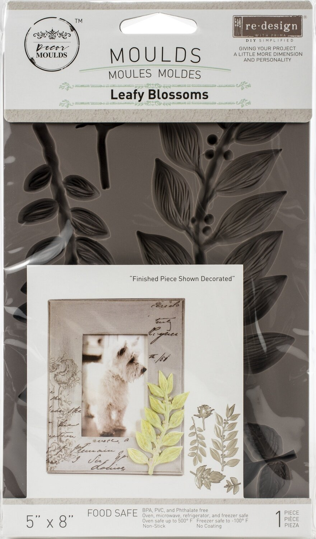 """Prima Marketing Re-Design Mould 5""""X8""""X8mm - Leafy Blossoms"""