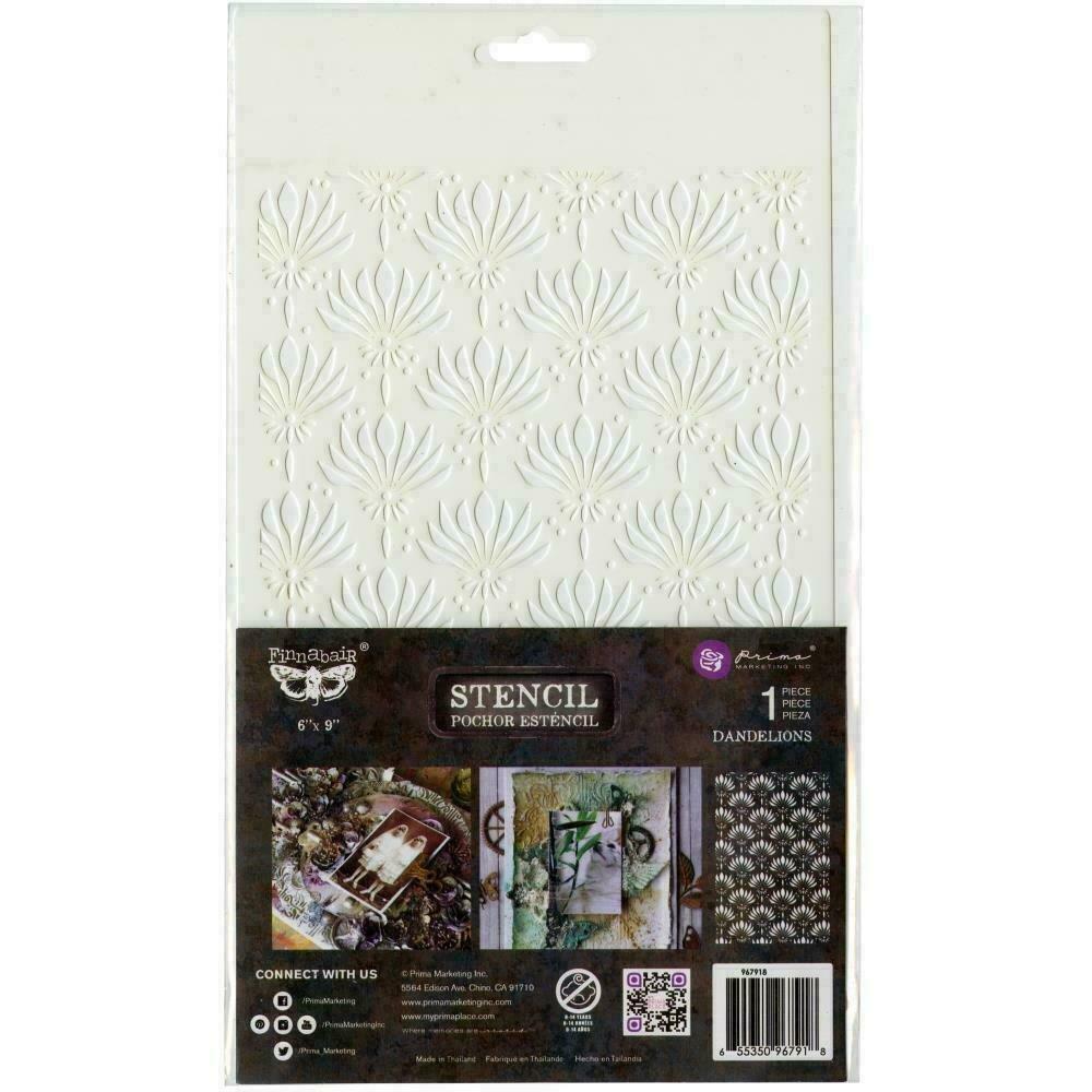 """Prima Marketing Stencil - Dandelions - 6""""X9"""""""