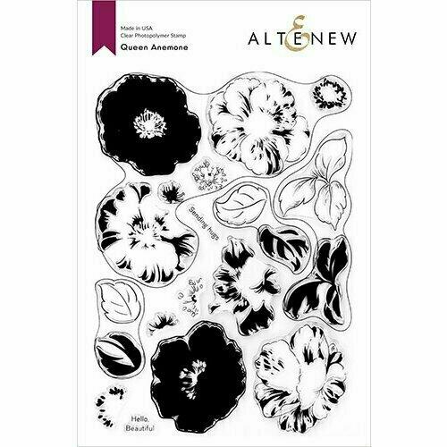 Queen Anemone Stamp & Die & Coloring Stencil Bundle