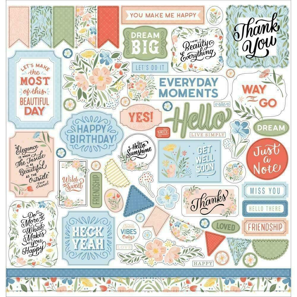 "Salutations No. 1 Cardstock Stickers 12""X12""Elements"