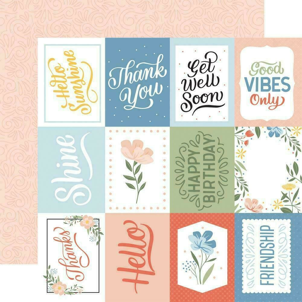 """Salutations No. 1 Double-Sided Cardstock 12""""X12"""" 3""""X4"""" Journaling Cards"""
