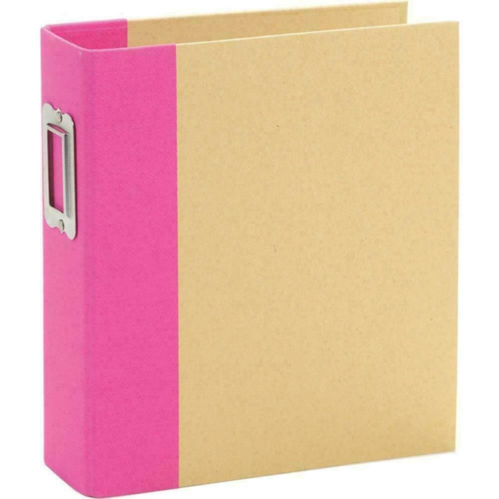 """Simple Stories Sn@p! Binder 6""""X8"""" - Pink"""