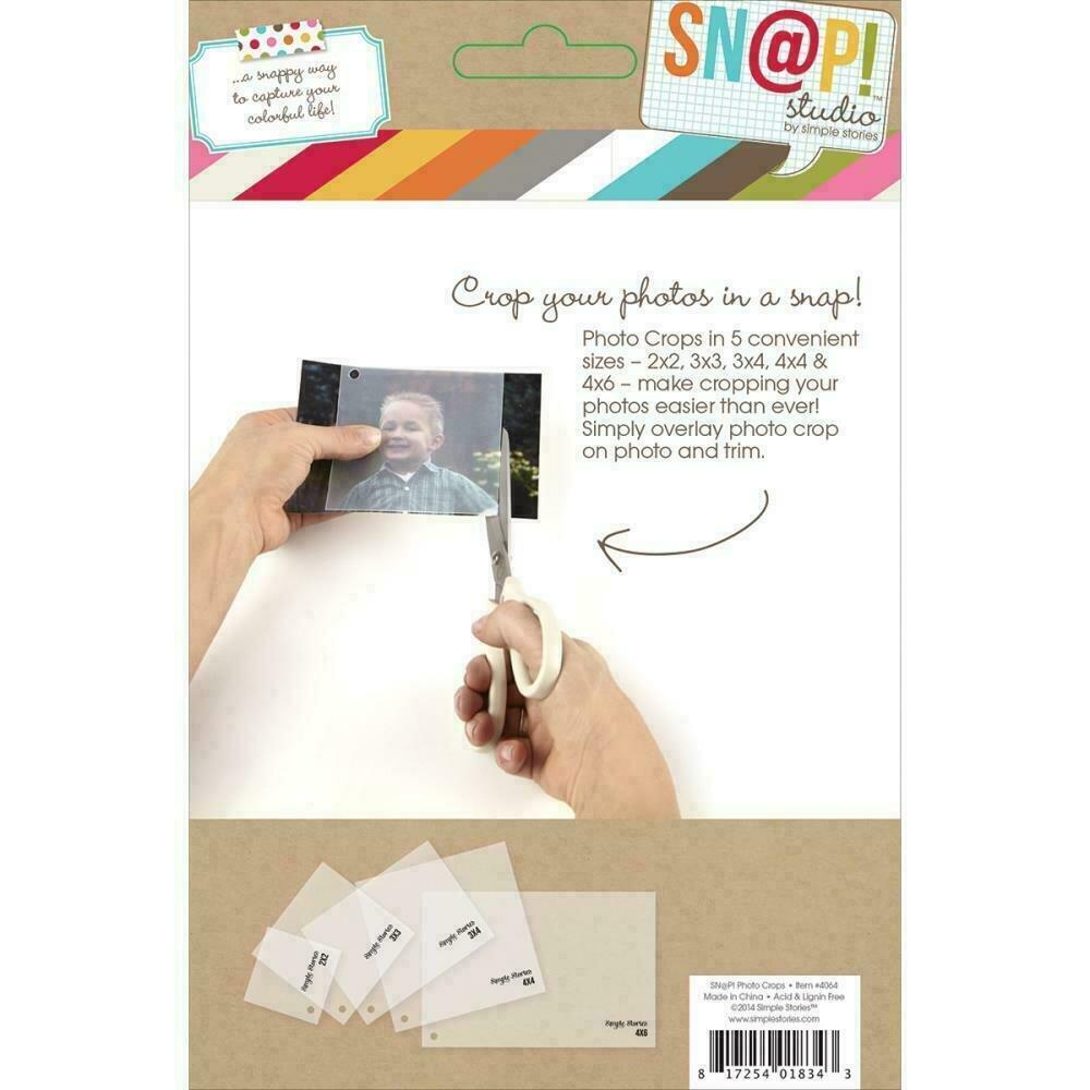 Simple Stories Sn@p! Photo Crops 5/PkgSquare & Rectangle