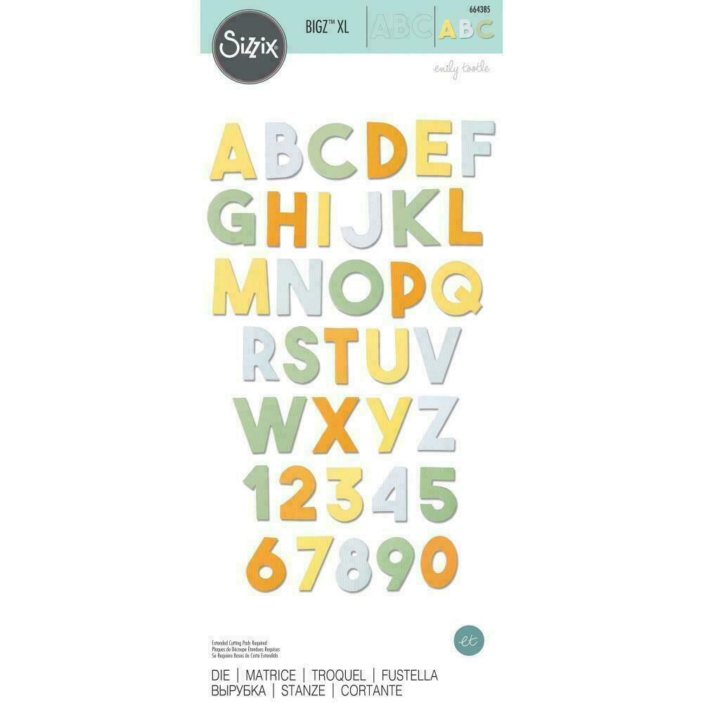 Sizzix Bigz XL Die By Emily Tootle Alphabet - Chunky
