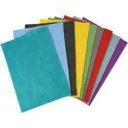 Sizzix Felt Sheets 10/PkgAssorted Colors - Bold